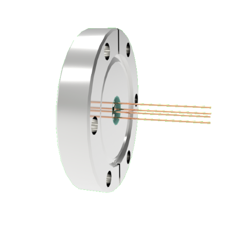 0.032 Conductor Diameter 4 Pin 2kV 16 Amp Copper Conductor in a CF2.75