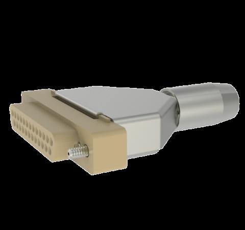 Mil-C-24308 Sub D, Peek Plug With Backshell, 25 Pin, 0.040 Copper Alloy Crimp Contacts, 500V, 5 Amp