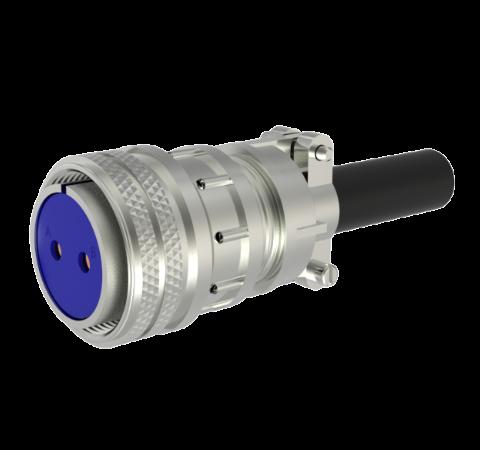 Mil-C-5015 Circular, Air Side Solder Plug, 2 Pin, 0.142 Diameter Contacts, 700V, 46 Amp