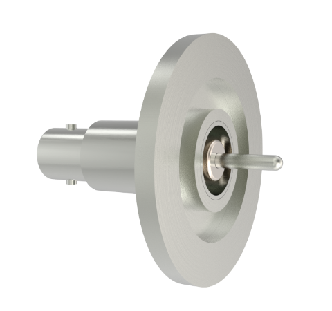 BNC Grounded Shield Recessed 500V 3.6 Amp 0.094 304 Stn. Stl. Conductor KF25 Flange Without Plug